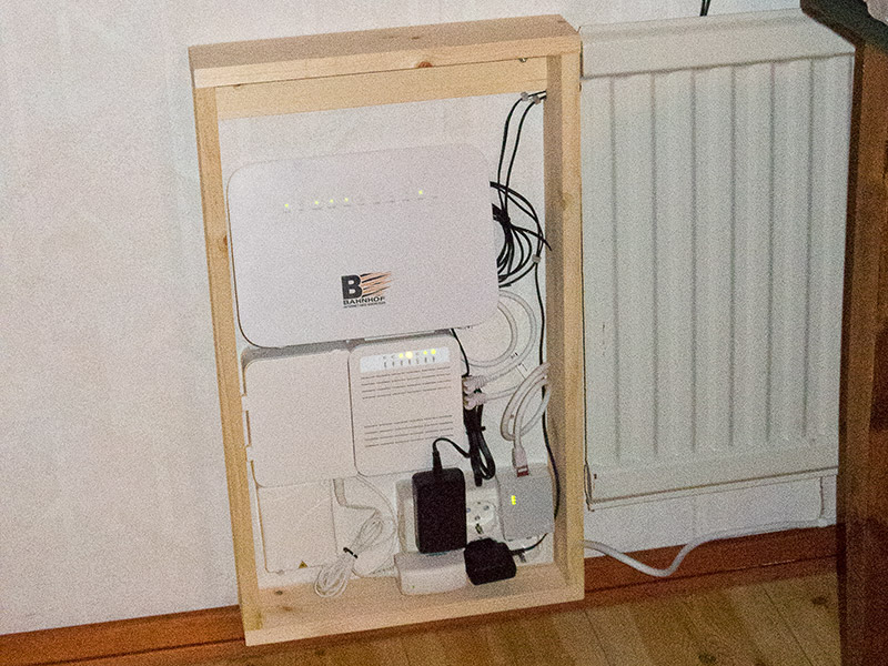 Bredbandsskåp Mediakonverterare Router  SIP-box