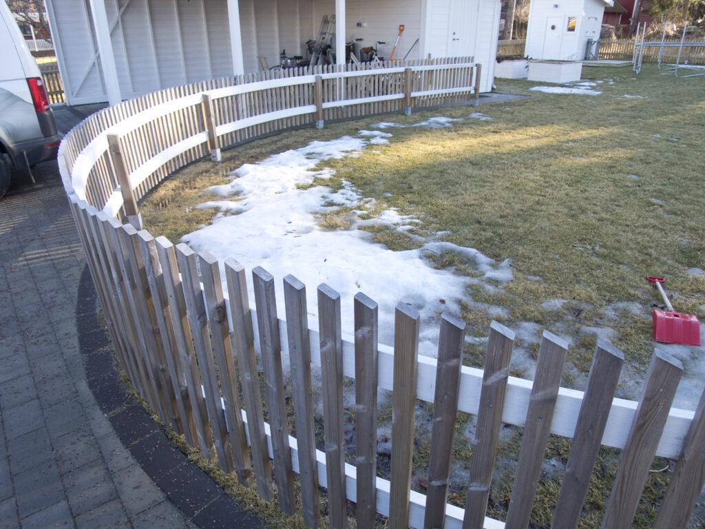 staket böjda limträreglar limträ