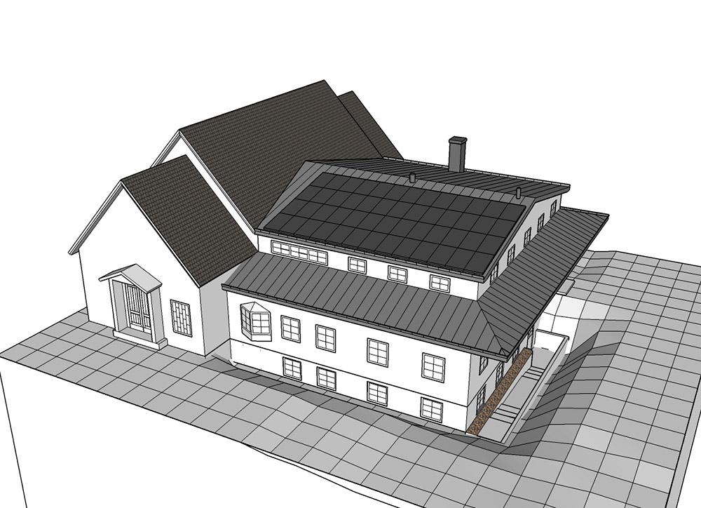 ritning bygglov solceller solpaneler solel solenergi kyrktak kyrka