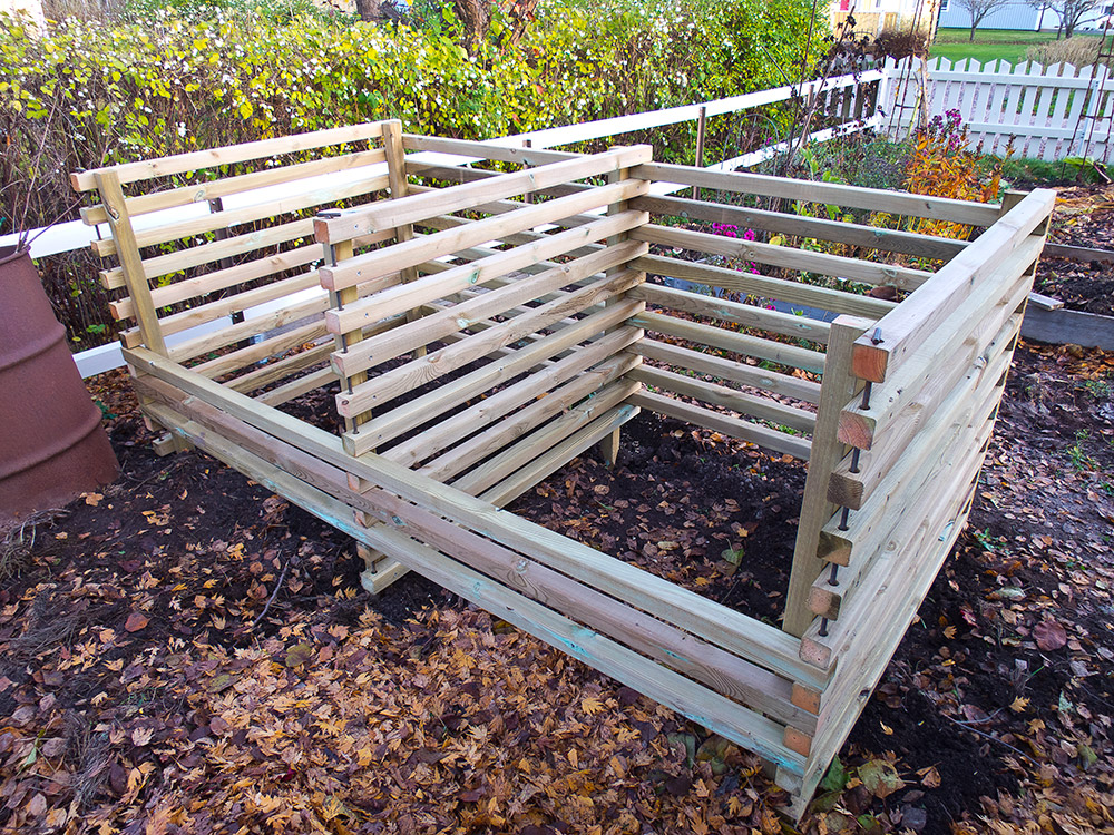 kompost kompostlåda platsbyggd kompostering