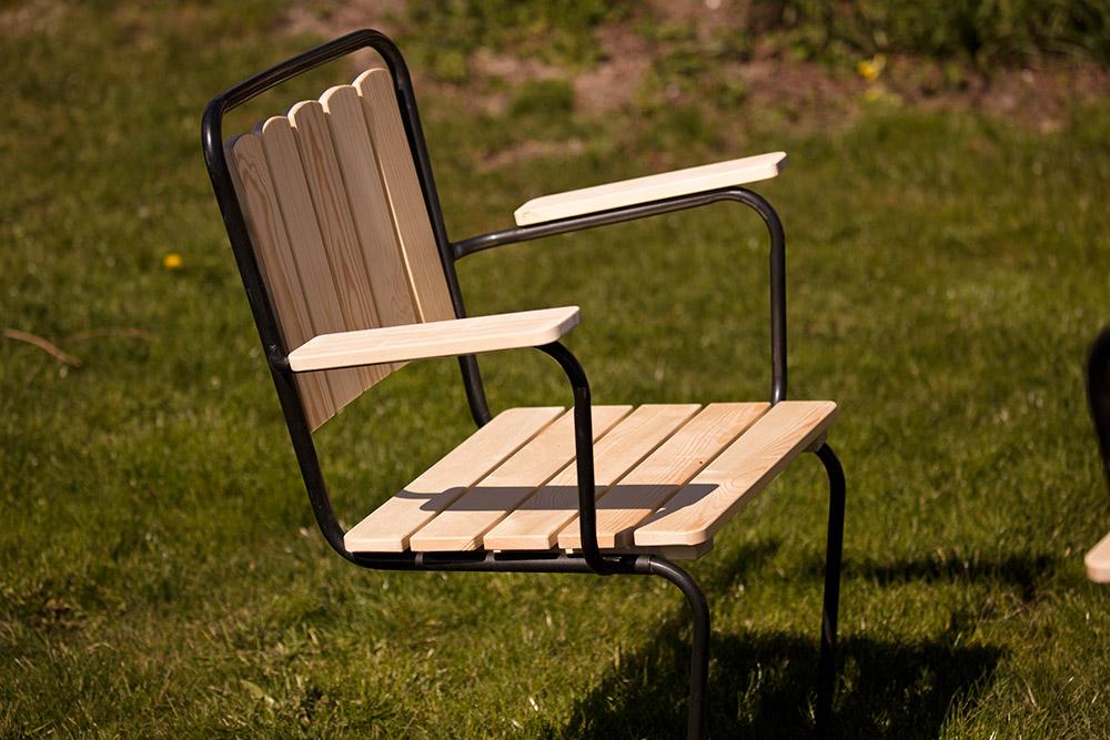 Trädgårdsstol från KWA renoverad med kvistfri furu